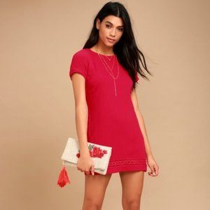 Lulu's The Perfect Time Red Shift Dress